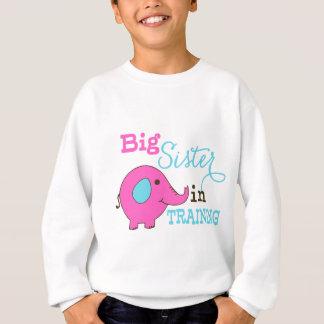 Große Schwester im Trainings-Elefanten Sweatshirt