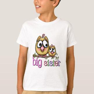 Große Schwester-kleine Schwester-Eulen T-Shirt