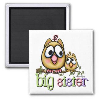 Große Schwester - kleiner Bruder Quadratischer Magnet