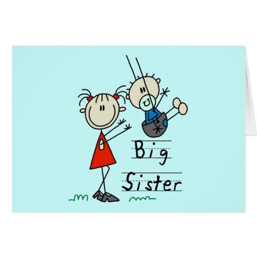 Große Schwester-kleiner Bruder-T-Shirts und Gesche Grußkarte
