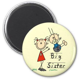 Große Schwester-kleiner Bruder-T-Shirts und Gesche Runder Magnet 5,1 Cm