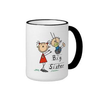 Große Schwester-kleiner Bruder-T-Shirts und Gesche Tee Tassen