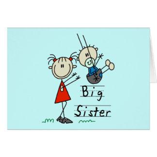 Große Schwester-kleiner Bruder-T - Shirts und Karte