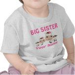 Große Schwester-Kuh-personalisierte T-Shirts