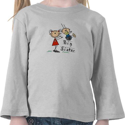 Große Schwester mit kleiner Bruder-T-Shirts und