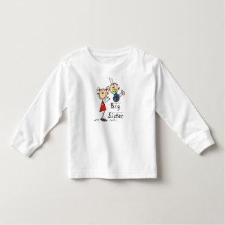 Große Schwester mit kleiner Bruder-T-Shirts und Hemd