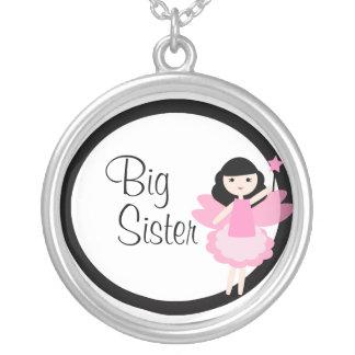Große Schwester-Prinzessin Fairy Necklace Versilberte Kette