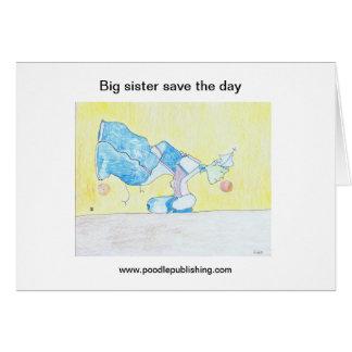 Große Schwester retten den Tag Karte