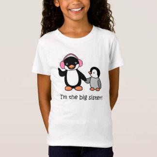 Große Schwesterpenguin-T - Shirt