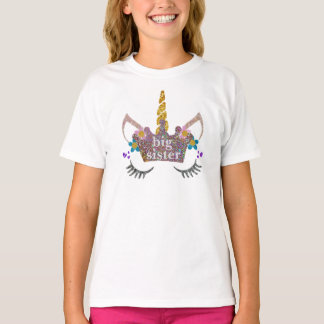 Große Schwesterunicorn-Shirt T-Shirt