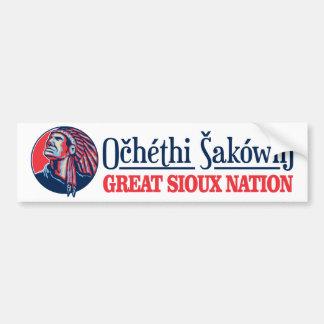 Große Sioux-Nation Autoaufkleber