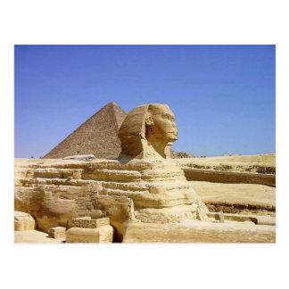 Große Sphinx von Giseh-Postkarte Postkarte