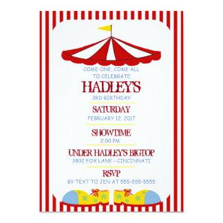 Große Spitzen-Zirkus-Geburtstags-Party Einladung