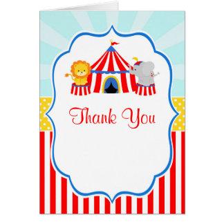 Große Spitzen-Zirkus-Karnevals-Geburtstags-Party Karte