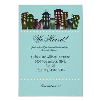 Große Stadt-neue Adressen-Mitteilung Einladung