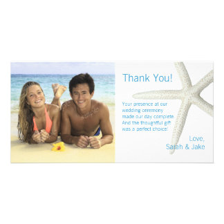 Große Starfish-danken kundenspezifische Karte