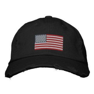 Große Stickerei-wirkliche Sterne amerikanische Fla Bestickte Kappe
