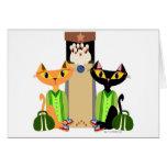 Große streunende Katzen Grußkarte