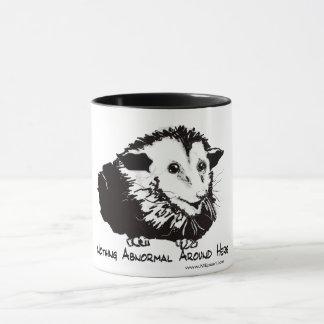 Große Tasse mit Opossumbild und profundem Gefühl