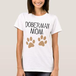 Große Tatzen-Dobermann-Mamma T-Shirt