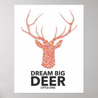 Große Traumrotwild kleines Poster