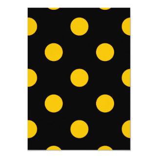 Große Tupfen - Bernstein auf Schwarzem 11,4 X 15,9 Cm Einladungskarte
