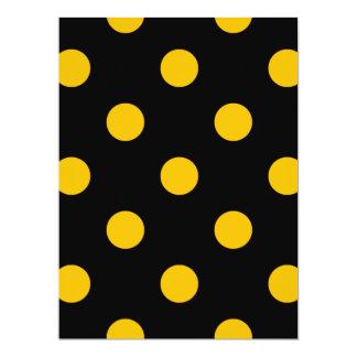 Große Tupfen - Bernstein auf Schwarzem 16,5 X 22,2 Cm Einladungskarte