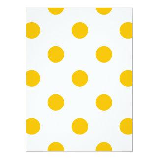 Große Tupfen - Bernstein auf Weiß 16,5 X 22,2 Cm Einladungskarte