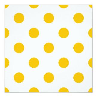 Große Tupfen - Bernstein auf Weiß Quadratische 13,3 Cm Einladungskarte