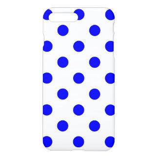Große Tupfen - Blau auf Weiß iPhone 8 Plus/7 Plus Hülle