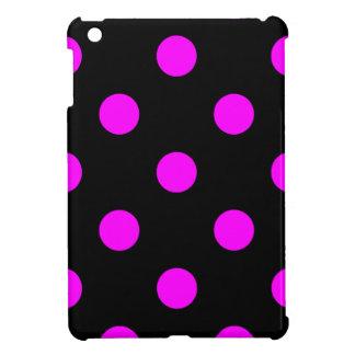 Große Tupfen - Fuchsie auf Schwarzem iPad Mini Hüllen