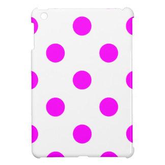 Große Tupfen - Fuchsie auf Weiß iPad Mini Hüllen