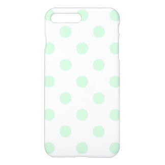 Große Tupfen - Pastellgrün auf Weiß iPhone 8 Plus/7 Plus Hülle