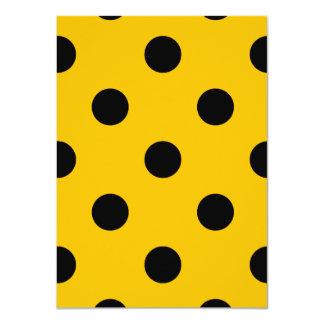 Große Tupfen - Schwarzes auf Bernstein 11,4 X 15,9 Cm Einladungskarte