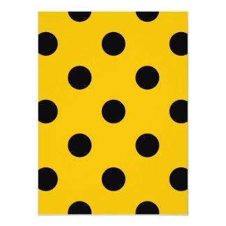 Große Tupfen - Schwarzes auf Bernstein 14 X 19,5 Cm Einladungskarte
