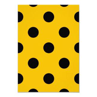 Große Tupfen - Schwarzes auf Bernstein 8,9 X 12,7 Cm Einladungskarte