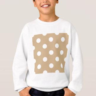Große Tupfen - Weiß auf TAN Sweatshirt