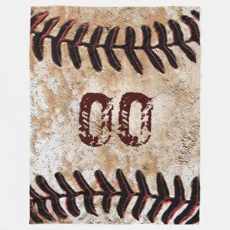 Große Vintage Baseball-Decke mit Jersey-ZAHL Fleecedecke
