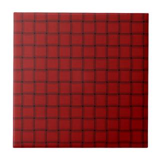 Große Webart - dunkles Süßigkeits-Apple-Rot Keramikfliesen