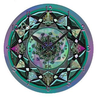 Große weise keltische mystische Mandala-Wanduhr Große Wanduhr
