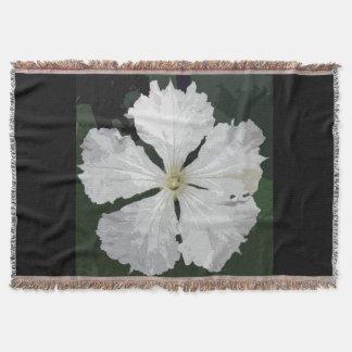 Große weiße Blume Decke