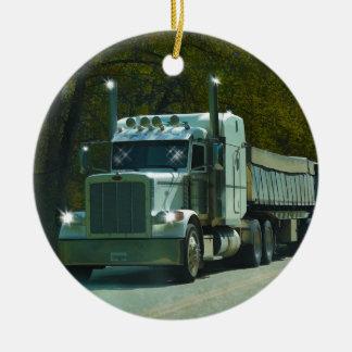 Große weiße LKW-und Landstraßen-Kunst für Keramik Ornament