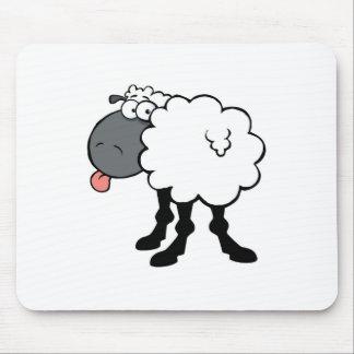 Große weiße Schafe Mousepad