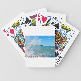 Große Welle auf dem blauen Meer Bicycle Spielkarten