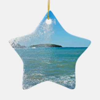 Große Welle auf dem blauen Meer Keramik Ornament