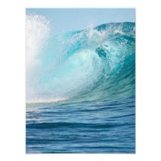 Große Welle des pazifischen Ozeans, die vertikales Fotodruck