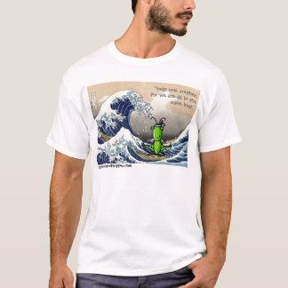 Große Welle, kleine Heuschrecke T-Shirt
