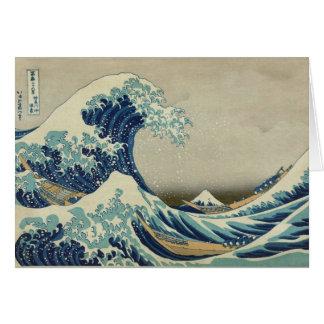Große Welle weg von Kanagawa - Hokusai Karte