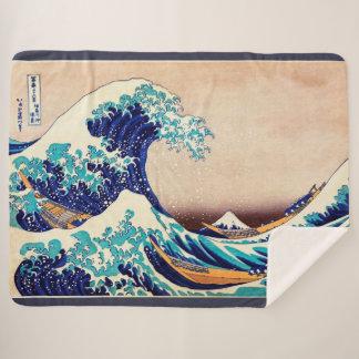 Große Welle weg von Vintager japanischer Kunst Sherpadecke