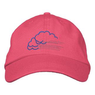 Große Wolken Bestickte Mütze
